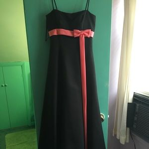 Black and Pink Alfred Angelo Dress